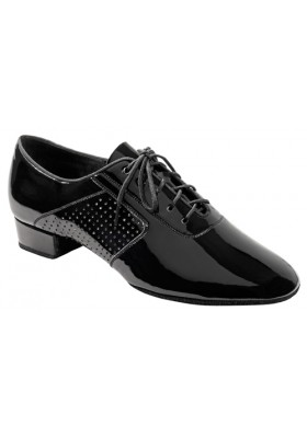 Galex - Boys Dance Shoes - Black Patent - Heel 1 inch