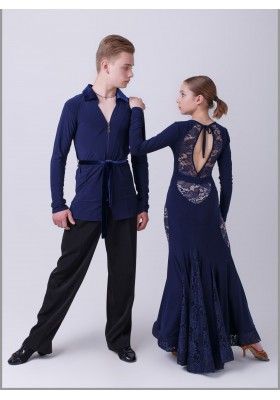 Boys Men's Ballroom Latin Shirt 11
